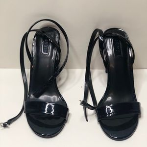 Forever 21 Faux Patent Leather Wraparound Heels